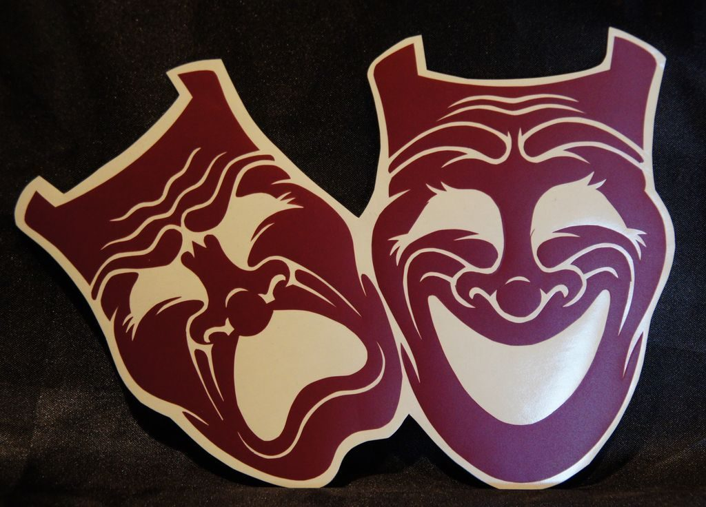 - Theater Masken [ 21x14 ] 4€